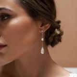 Boucles d'oreilles mariée Saya