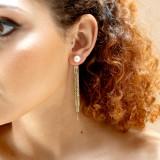 Boucles d'oreilles mariage doré