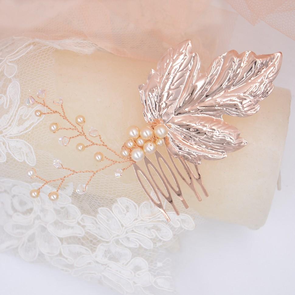 Peigne Mariée Rose gold