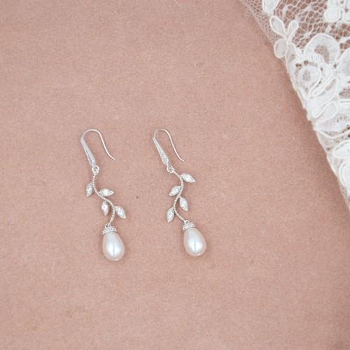 Boucles d'oreilles Mariée Jalane