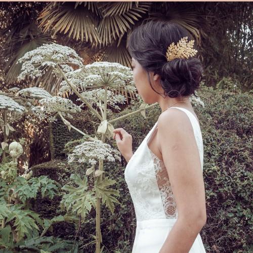 Peigne de Mariée feuilles Héléna
