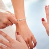 Bracelet mariée strass argenté