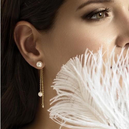 """Boucles d'oreilles pendantes Perles """"Lea"""""""