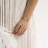 Bracelet mariée brillant argenté