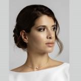 Collier mariée perle solitaire argenté