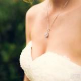 Collier mariage goutte argenté