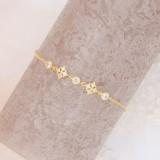 Bracelet mariée cristal doré