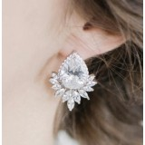 Boucles d'oreilles mariage goutte