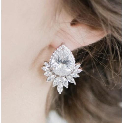 Boucles d'oreilles mariage Mila