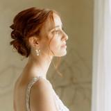 Boucles d'oreilles Mariage fleur romantique