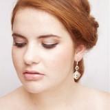 Boucles d'oreilles mariée pendantes