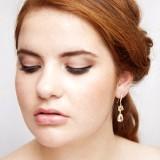 Boucles d'oreilles mariée gouttes