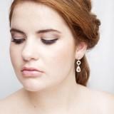 Boucles d'oreilles mariée dorées