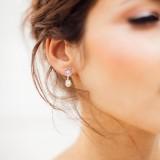 Boucles d'oreilles mariage Ophée
