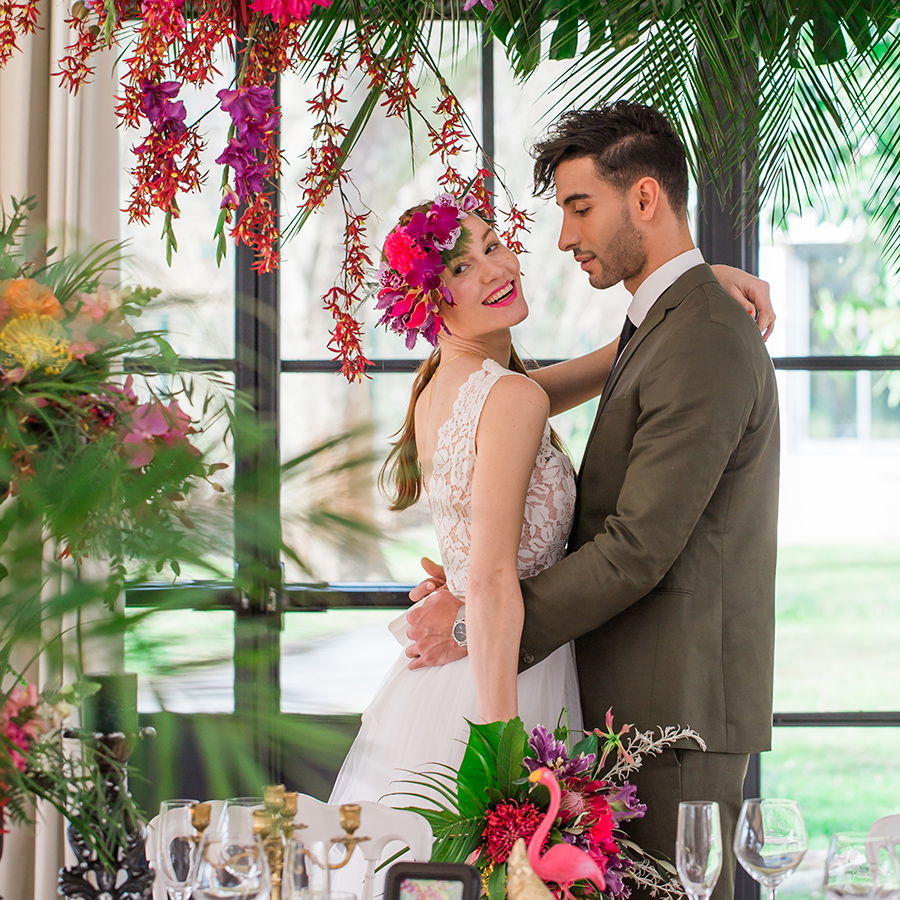 couple mariage tropical